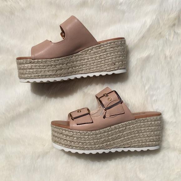 1a2c55d81a3 Nude AMS Platform Sandals